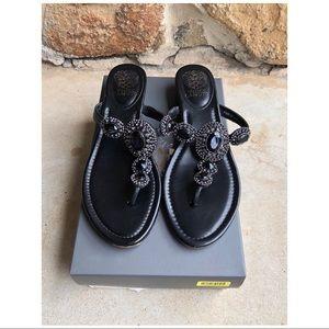2c38ba181014 Vince Camuto Shoes - Vince Camuto Ilina Wedge Sandals Napa Black 8.5M
